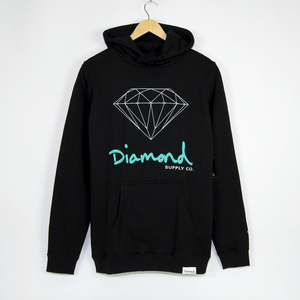 Diamond Supply Co. - OG Sign Core Pullover Hooded Sweatshirt - Black