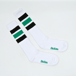 Dickies - Atlantic City Socks - White / Black / Green
