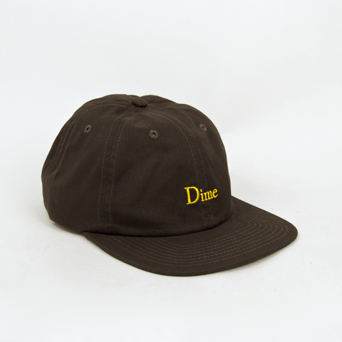 Dime MTL - Classic 6 Panel Cap - Brown