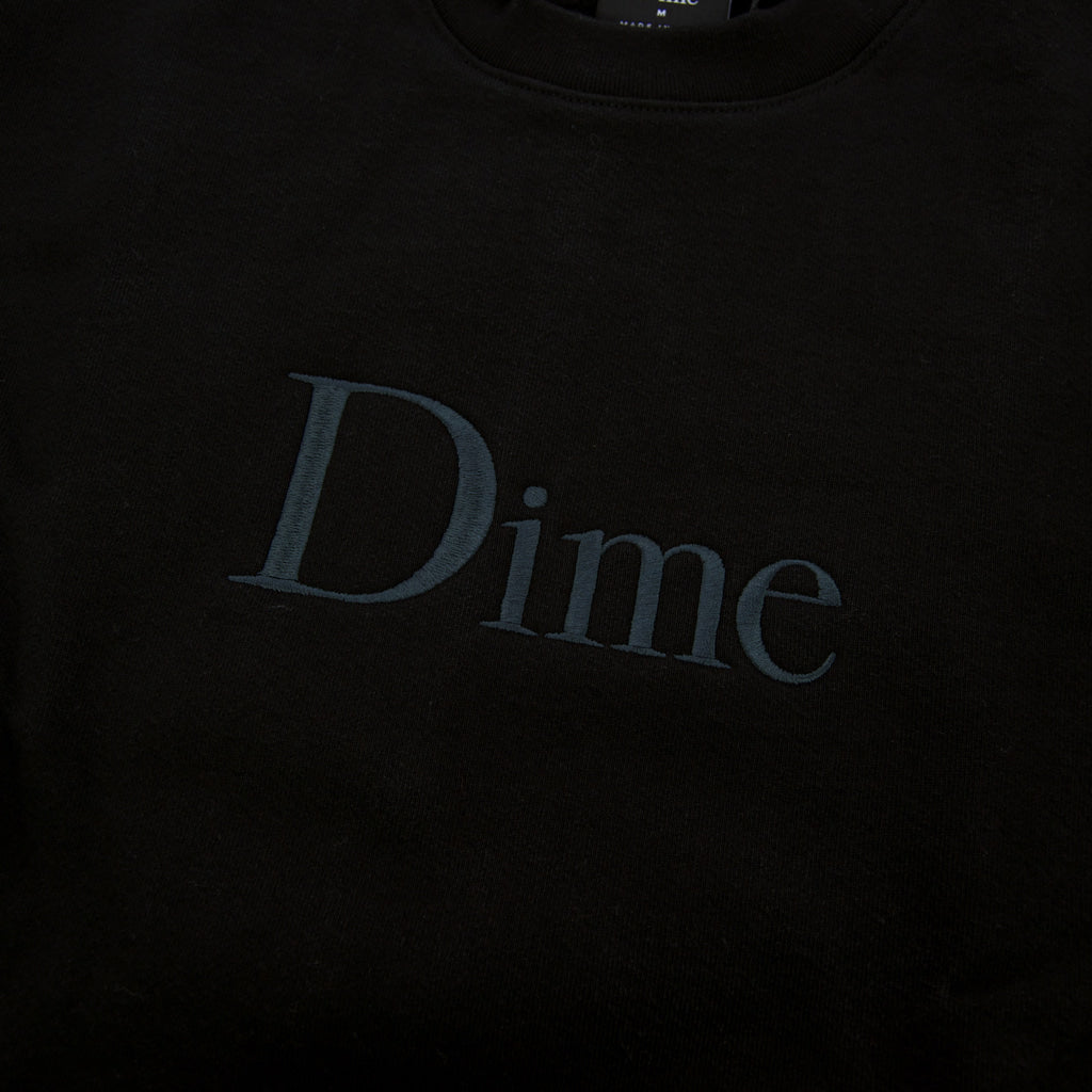Dime MTL - Dime Classic Embroidered Crewneck Sweatshirt - Black