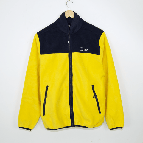 Dime MTL - Fleece Jacket - Yellow / Navy