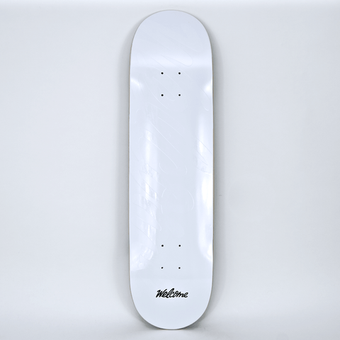 Welcome Skate Store - Embossed Logo Skateboard Deck - White