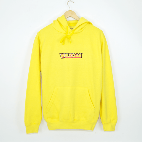 Welcome Skate Store - Fantasy Pullover Hooded Sweatshirt - Yellow