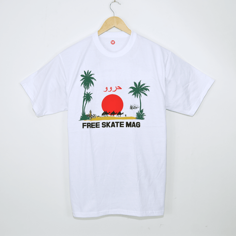 Free Skate Mag - Marrakech T-Shirt - White