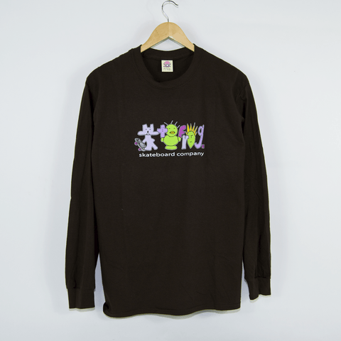 Frog Skateboards - Sk8r Punks! Longsleeve T-Shirt - Dark Brown