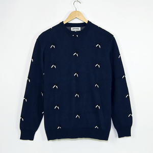 Fucking Awesome - Flies Knitted Crewneck Sweatshirt - Navy