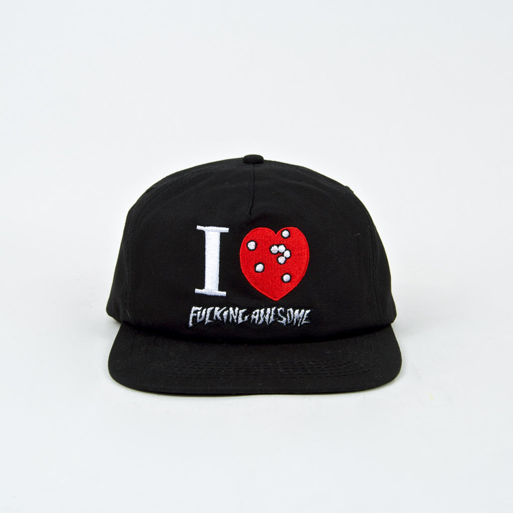 Fucking Awesome - I Heart FA Cap - Black