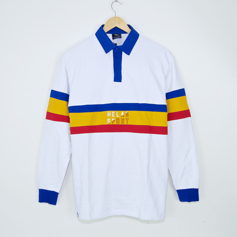 Helas - Rude Longsleeve Polo Shirt - White