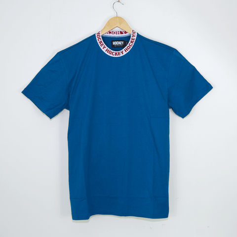 Hockey Skateboards - Knit Ringer T-Shirt - Blue
