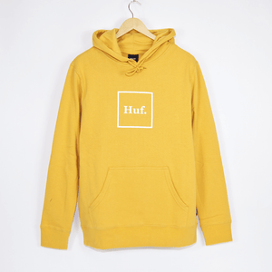 Huf - Box Logo Pullover Hooded Sweatshirt - Mineral Yellow