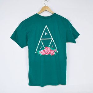 Huf - City Rose Triple Triangle T-Shirt - Deep Jungle
