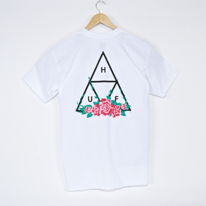 Huf - City Rose Triple Triangle T-Shirt - White