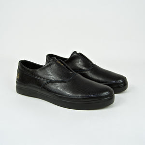 Huf - Dylan Rieder Slip-On Shoes - Black Leather