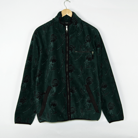 Huf - Farewell Fleece Jacket - Dark Forest Green