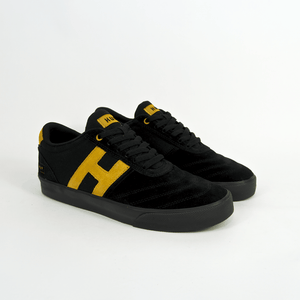 Huf - Galaxy Shoes - Black / Mustard