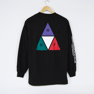 Huf - Prism Triple Triangle Longsleeve T-Shirt - Black