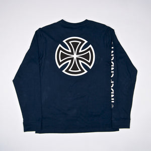 Independent - Bar Cross Longsleeve T-Shirt - Navy