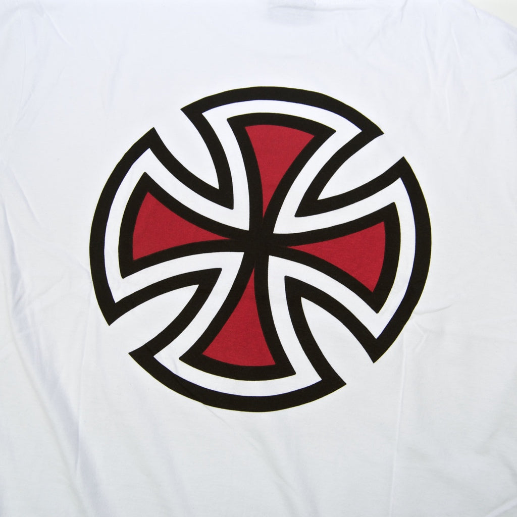 Independent - Bar Cross Longsleeve T-Shirt - White