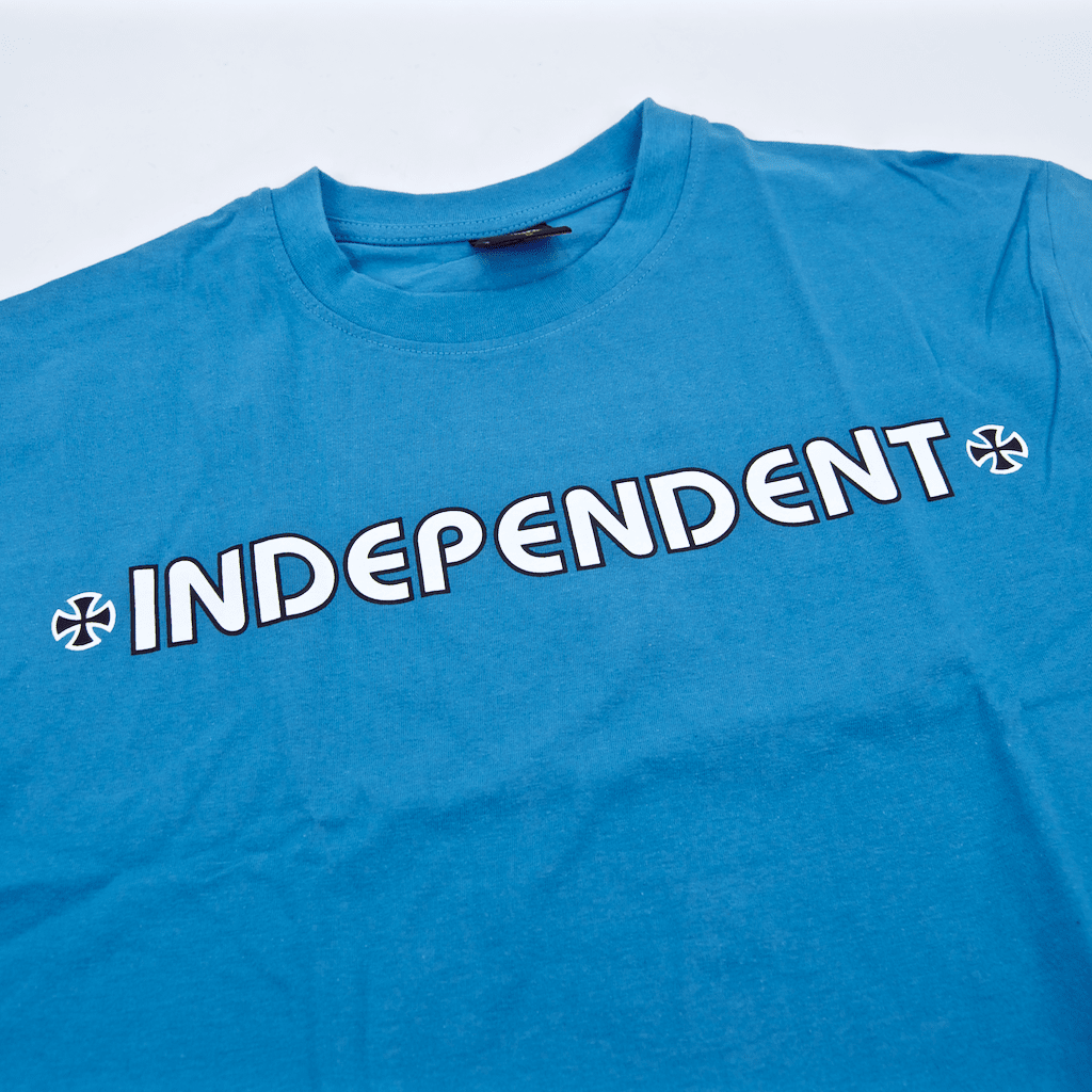 Independent - Bar Cross T-Shirt - Carolina Blue