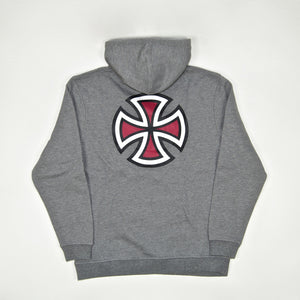 Independent - Bar Cross Pullover Hooded Sweatshirt - Dark Heather