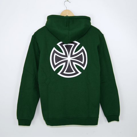 Independent - Bar Cross Pullover Hooded Sweatshirt - Forest Green