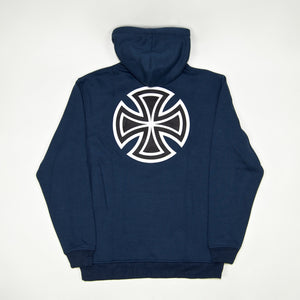 Independent - Bar Cross Pullover Hooded Sweatshirt - Navy