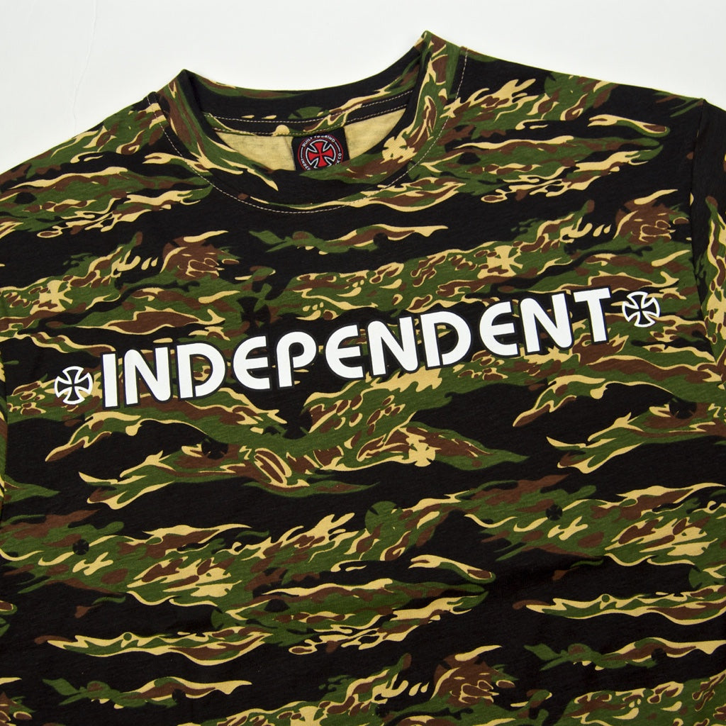 Independent - Bar Cross T-Shirt - Tiger Camo