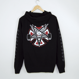 Independent - Indy X Thrasher Pentagram Cross Pullover Hooded Sweatshirt - Black