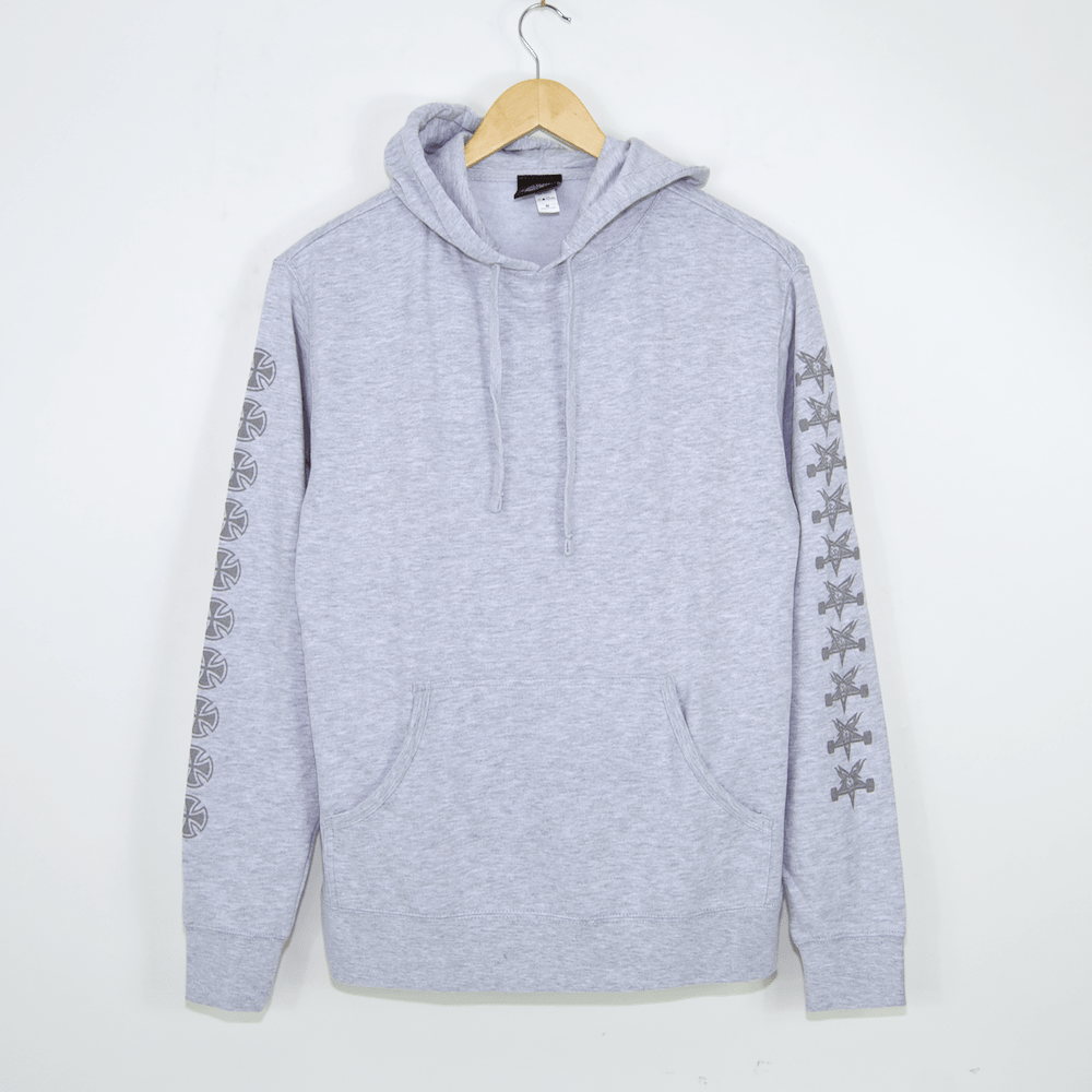 Independent - Indy X Thrasher Pentagram Cross Pullover Hooded Sweatshirt - Grey Heather