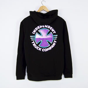 Independent - Purple Chrome Pullover Hooded Seatshirt - Black