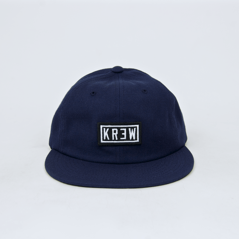 Krew - Label Patch Strapback Cap - Navy