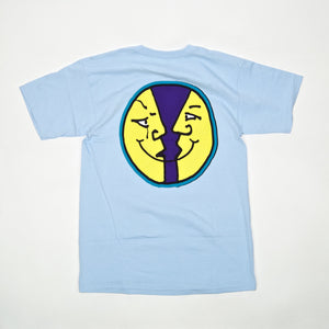Krooked Skateboards - Moonsmile 2 T-Shirt - Powder Blue