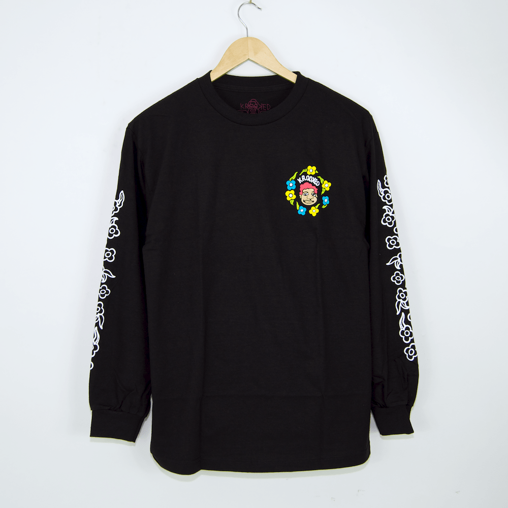 Krooked Skateboards - Sweatpants Longsleeve T-Shirt - Black