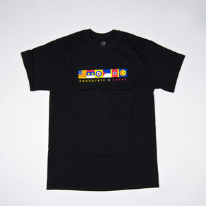 Lakai - Chocolate Skateboards Flags T-Shirt - Black