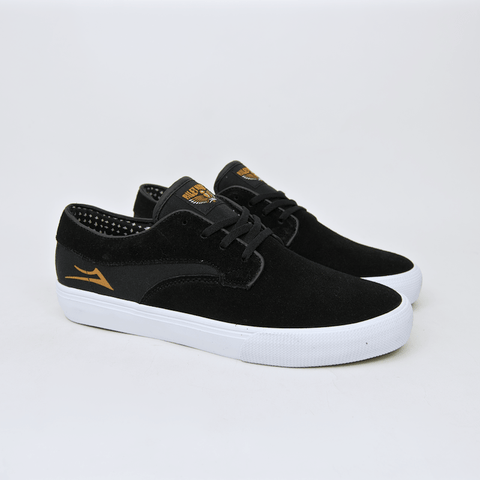 Lakai - Riley Hawk Shoes - Black / White