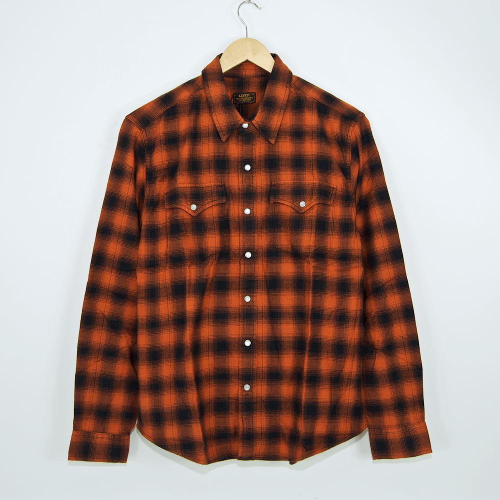 f304000a917 ... Levi s Skateboarding Collection - Western Flannel Shirt - Nilgai Bombay  Brown ...