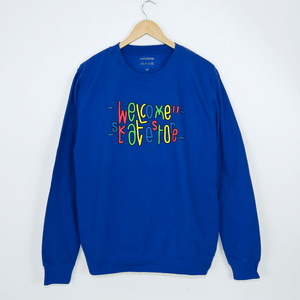Welcome Skate Store - Love Crewneck Sweatshirt - Royal Blue