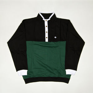 Magenta Skateboards - Alpine Crew Button Up Pullover - Tricolor