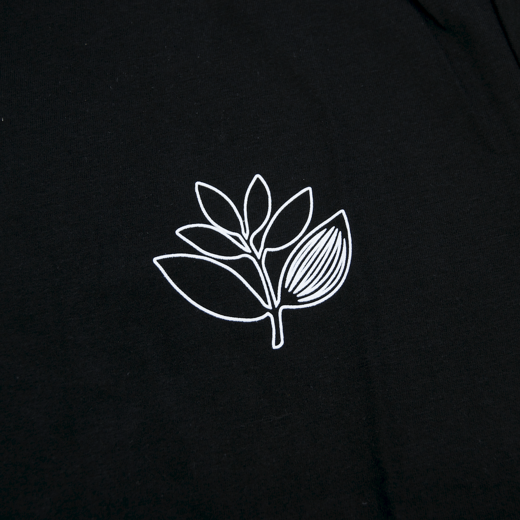 Magenta Skateboards - Plant Outline T-Shirt - Black