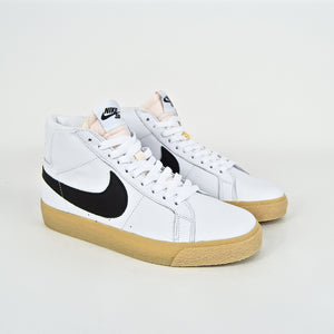 Nike SB - Blazer Mid Orange Label ISO Shoes - White / Black / Gum