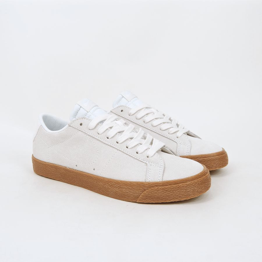 official photos 175a5 76b4d where can i buy nike sb blazer low shoes summit white gum 735bd a5bb9