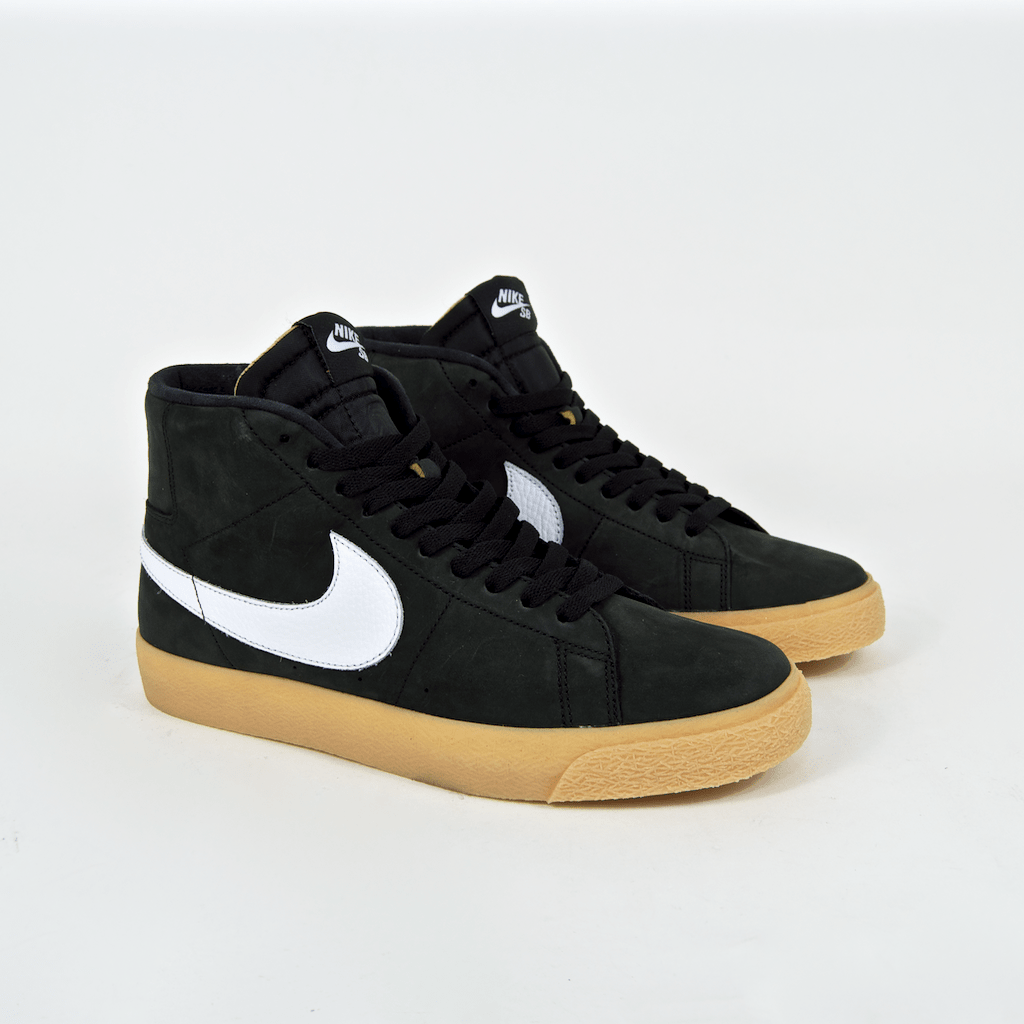 Nike SB - Blazer Mid Orange Label ISO Shoes - Black / White / Safety Orange