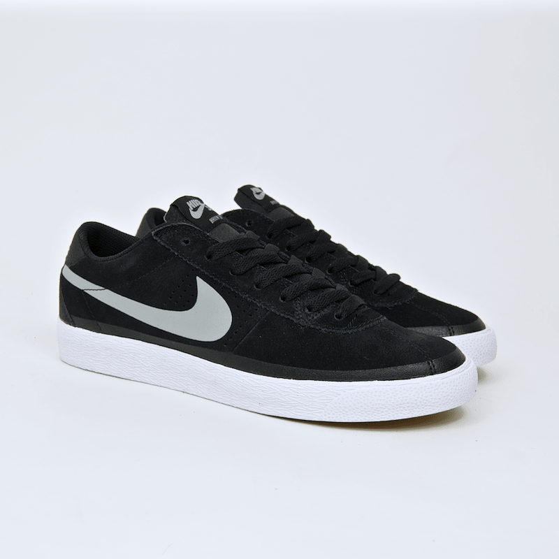 super popular 9a754 b9f2e ... Nike SB - Bruin Premium SE Shoes - Black   Base Grey   White ...