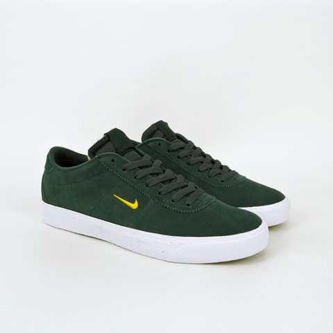 Nike SB Bruin Ultra Shoes - Midnight Green / Yellow Ochre / White