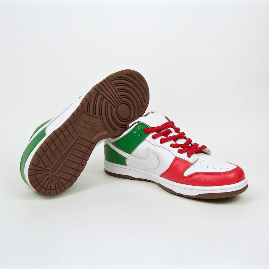 Nike SB - 'Cinco De Mayo' Dunk Low Pro SB Shoes - White / White