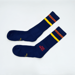 Nike SB - Crew Skateboarding Socks - Blue / Red / Yellow