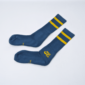 Nike SB - Crew Skateboarding Socks - Blue / Yellow