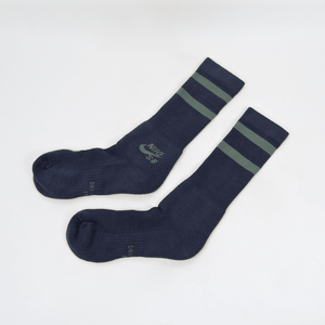 Nike SB - Crew Skateboarding Socks - Navy / Clay Green