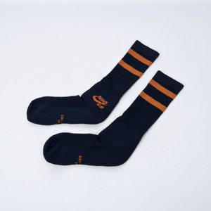 Nike SB - Crew Skateboarding Socks - Navy / Orange