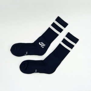 Nike SB - Crew Skateboarding Socks - Navy / White